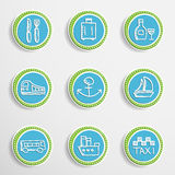 Web Buttons with Drawing Icons Royalty Free Stock Photos