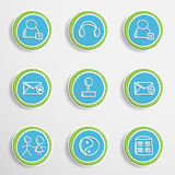 Web Buttons with Drawing Icons Stock Photo