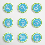 Web Buttons with Drawing Icons Stock Photography