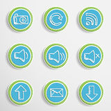 Web Buttons with Drawing Icons Stock Photos