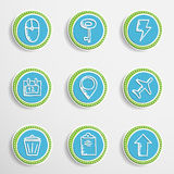 Web Buttons with Drawing Icons Royalty Free Stock Images