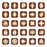 Web buttons, elements or icons Royalty Free Stock Photo