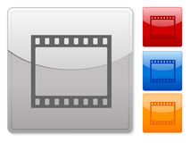 Web buttons film strip. Color square web buttons. Vector illustration Stock Photo