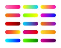 Web buttons flat design with colorful trendy gradient vector illustration