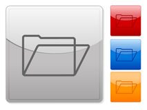 Web buttons folder. Color square web buttons. Vector illustration Royalty Free Stock Images