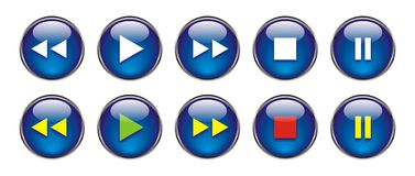 Web Buttons For DVD/VCR/CD Royalty Free Stock Images