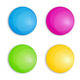 Web Buttons in Four Colors Stock Photo