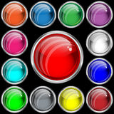 Web buttons with a glass effect Royalty Free Stock Images