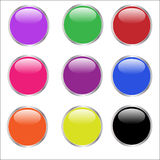 Web Buttons - glossy Royalty Free Stock Image