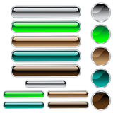 Web buttons glossy assorted colors and shapes Royalty Free Stock Photo