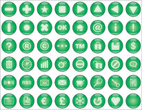 Web buttons green. Glossy green buttons for web and interfaces illustration Royalty Free Stock Photos