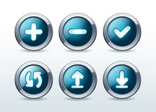 Web buttons icon set  illustration Royalty Free Stock Image