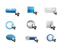 Web buttons icon set illustration Royalty Free Stock Photo