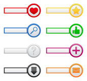 Web buttons with icons Royalty Free Stock Image