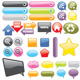 Web Buttons and Icons Stock Photo