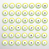 Web buttons and icons set. In editable vector format Stock Photo