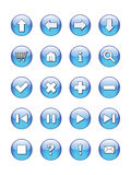 Web buttons icons, signs,  Royalty Free Stock Photography