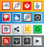 Web buttons and icons royalty free illustration