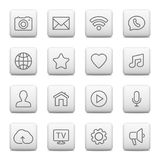 Web buttons and icons for website. Vector illustration Stock Photo