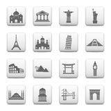 Web buttons - landmarks Royalty Free Stock Photo