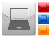 Web buttons laptop Royalty Free Stock Photography