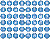 Web buttons light blue. Glossy light blue buttons for web and interfaces illustration Stock Photography