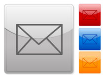 Web buttons mail Stock Images