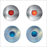 Web Buttons in metal  Stock Photo