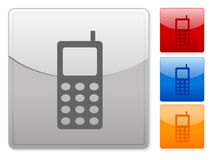 Web buttons mobile phone Royalty Free Stock Images