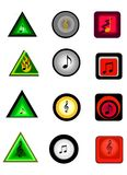 Web Buttons For Music Stock Photo