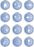 Web buttons: Navigation Stock Photo