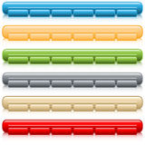 Web buttons navigation bars set Royalty Free Stock Image