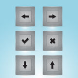 Web buttons with navigations icon Stock Photos