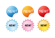 Web buttons New! Royalty Free Stock Images