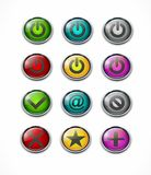 Web buttons. No yes email power plus star in different colors royalty free illustration