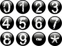 Web Buttons with Numbers stock illustration