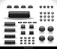 Web buttons pack Stock Photos