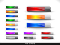 Web buttons pack Stock Photography