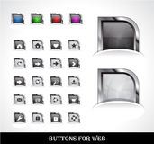 Web buttons pack Royalty Free Stock Photos
