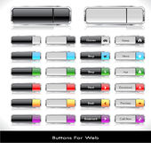 Web buttons pack Stock Photo