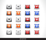 Web buttons pack Royalty Free Stock Photo