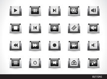 Web buttons pack Royalty Free Stock Images