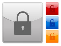 Web buttons padlock Royalty Free Stock Photography