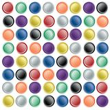 Web buttons on paper Royalty Free Stock Images