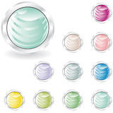 Web buttons in pastel tint Royalty Free Stock Photography