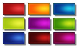 Web buttons- rectangle #02 Stock Photo