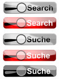 Web buttons search engine Royalty Free Stock Image