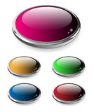Web buttons set. Stock Photos