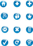 Web buttons set Stock Images