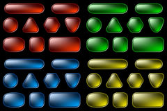 Web buttons set (on black) Royalty Free Stock Image